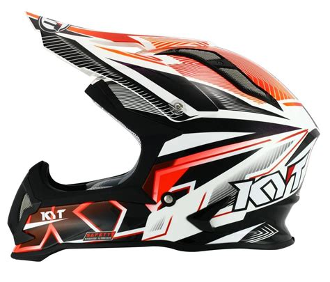 kyt cross white black kyt strike stripe eagle motocross helmet buy cheap fc moto