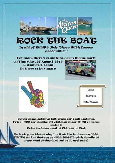Don T Rock The Boat Fish by Cyprus Rock The Boat For Tulips 27th August 2015