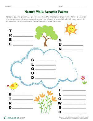 nature walk acrostic poems   acrostic acrostic