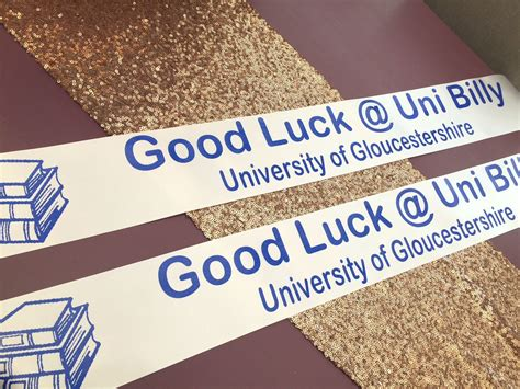 good luck  university banners personalised
