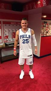 look mike trout in sixers gear is better than you think