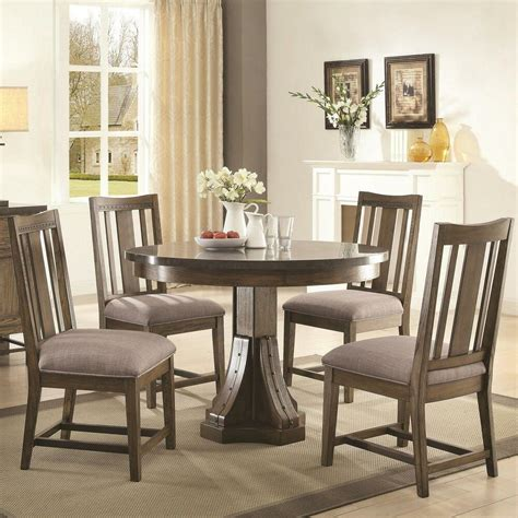 coaster 106980 982 willowbrook rustic ash round dining table 5 pc ebay