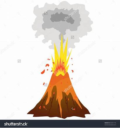 Eruption Clipart Volcanic Volcano Animated Station Clipground