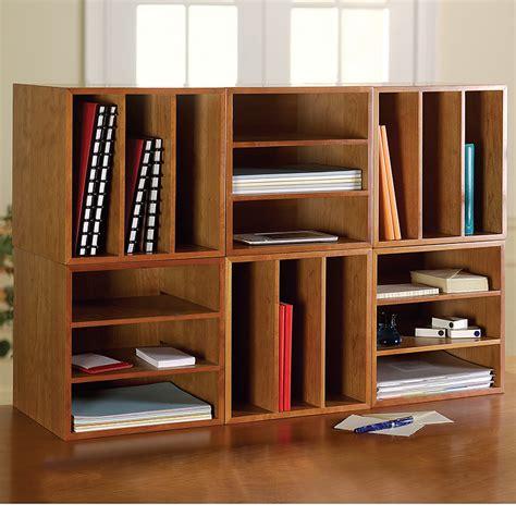Cubi Desk Bookcase  Wood Bookcase, Stackable Storage