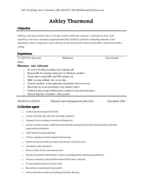thurmond 2014 resume for office work