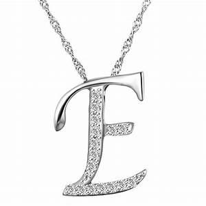 10pcs lot fashion letter e pendant necklace crystal With letter e pendant necklace