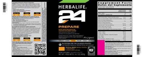 what are the ingredientsin plantabbs prolong the herbalife24 family herbalife24