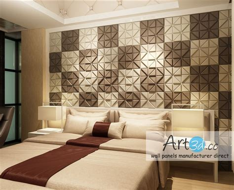 Bedroom Wall Design Ideas by Leather Tiles In Bedroom Wall Design Wall Decor