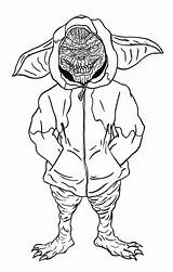 Coloring Gremlins Gremlin Printable Stripe Mogwai Sheets Gizmo Cartoon Books 80s Colouring Template Hoodie Omfg Sketch Clipart Sketches Clip Library sketch template