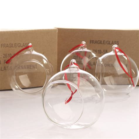 clear glass side opened terrarium ornaments christmas