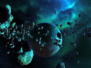 Asteroid Field And Nebula Digital Art by Spinning Angel