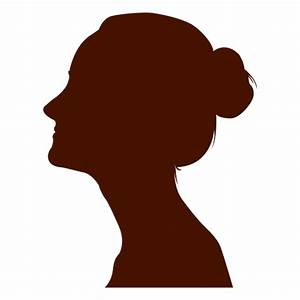 Woman profile silhouette - Transparent PNG & SVG vector