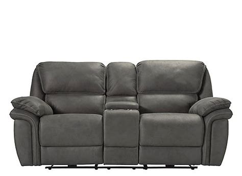 skye microfiber power reclining sofa skye microfiber power reclining console loveseat gray
