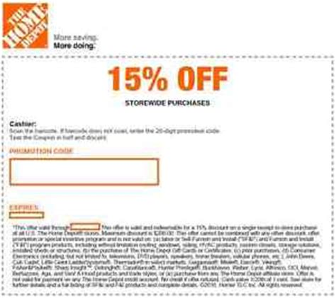 Oct November Home Depot Coupons  Printable Coupons Online