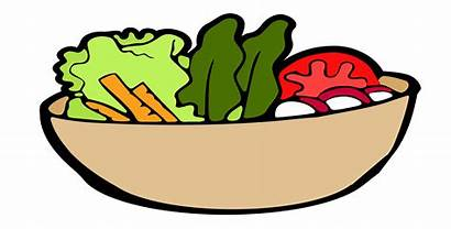 Clipart Salad Dish Vegetable Bowl Drawing Dishes