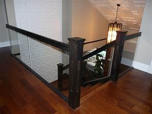 Glass Stair Railing Frameless — Zachary Horne Homes