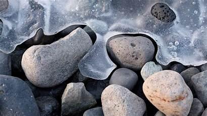Winter Macro Ice Stones Ubuntu Depth Field