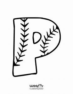 baseball alphabet letter p woo jr kids activities With baseball alphabet letters