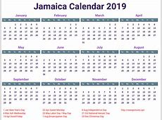 free Jamaica Calendar 2019 printable printcalendarxyz