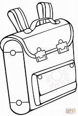 Coloring Pages Bag Drawing Printable Bookbag Backpack Backpacks Taska Bags Omalovanky sketch template