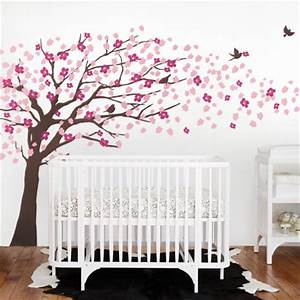 cherry blossom tree elegant style wall decal modern With kitchen cabinets lowes with japanese cherry blossom wall art sticker