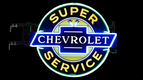 Chevrolet Super Service Neon Sign Dspn 49x42x18