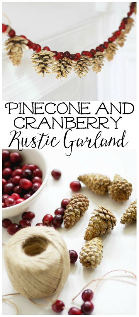 wood cranbery beads for christmas trees pinecone and cranberry garland clean and scentsible