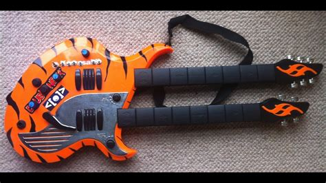 Circuit Bent Kawasaki Double Neck Toy Guitar