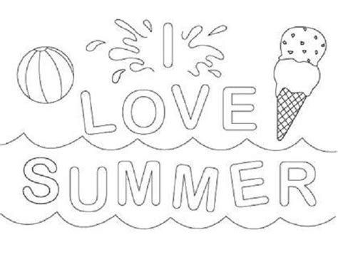 Printable Summer Coloring Pages Children