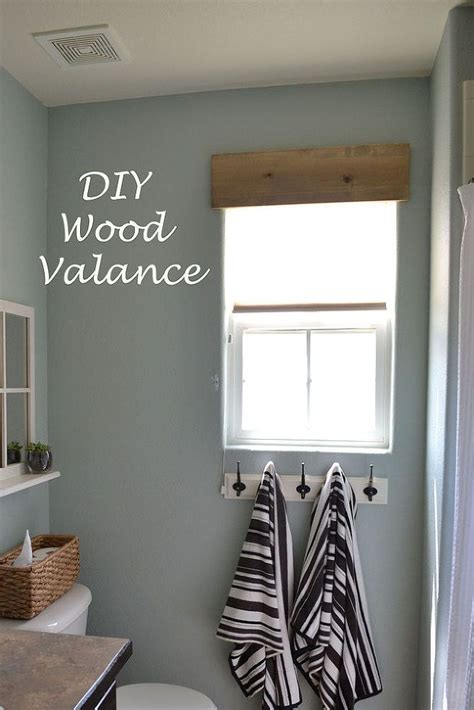 diy simple wooden valance wood valances  windows