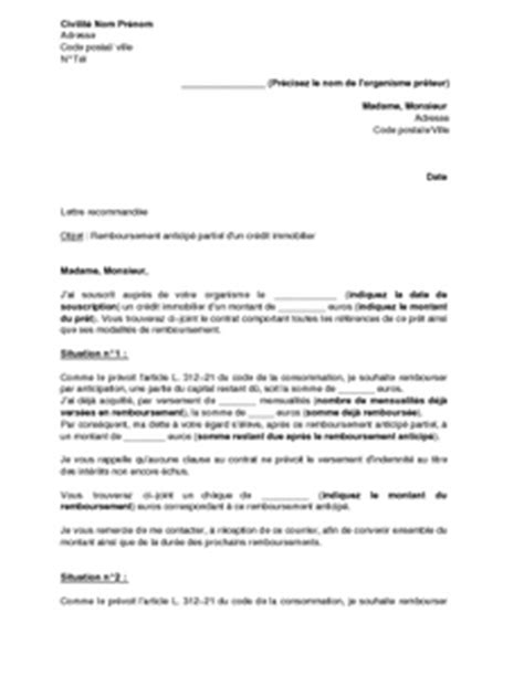 modele lettre suspension de credit immobilier modele lettre pour un remboursement document
