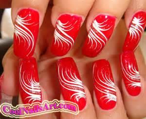 Red nail art designs