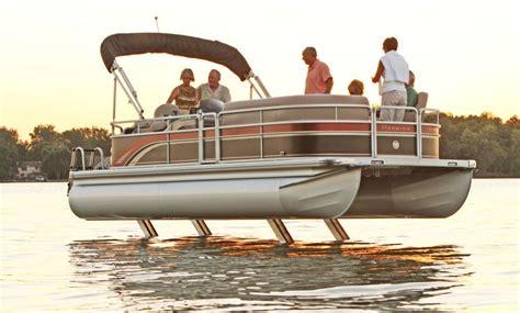 Hydrofoil Pontoon Boat by How To Pontoon Legs Pontoon Deck Boat Magazine