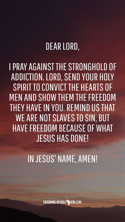 marriage prayer strongholds  addiction