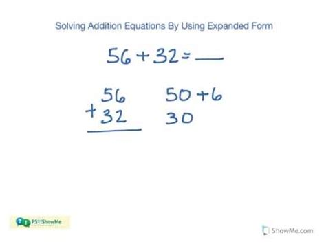 1st Grade Math Addition  Expanded Form (2digit And 3digit Numbers) (no) Youtube