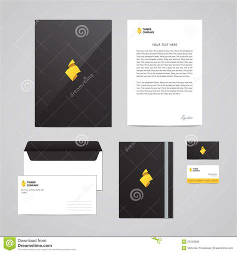 corporate identity timber company design template perfect