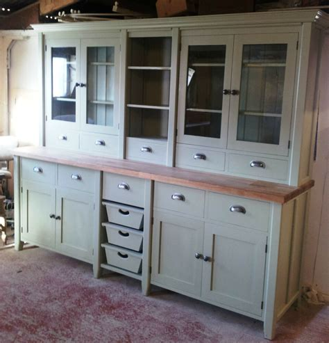 Freestanding Kitchen Cupboards by Painted Free Standing Kitchen Large Basket Dresser Unit Ebay