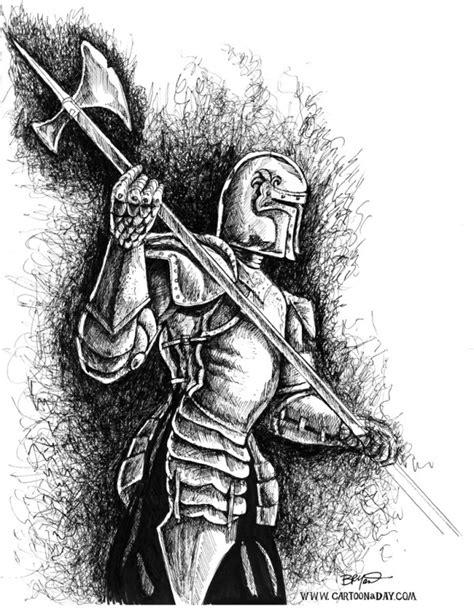 knight  armor ink  sketch cartoon