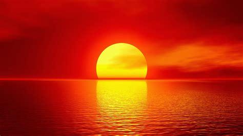 1920x1080 Sun Red Sky Ocean & Reflect Desktop Pc And Mac