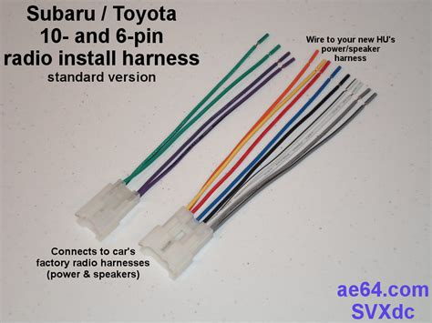 Subaru Forester Stereo Wiring Harnes by Radio Wiring Adapter Harness For Subaru And Toyota