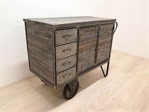 Möbel Industrial Style : rollwagen industrial m bel mit schubladen antik ~ Indierocktalk.com Haus und Dekorationen
