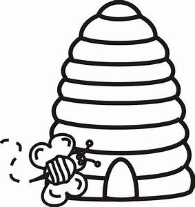 Bee Hive Coloring Page - ClipArt Best