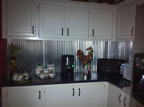 Corrugated Metal For Backsplash I Want To Do This Looking