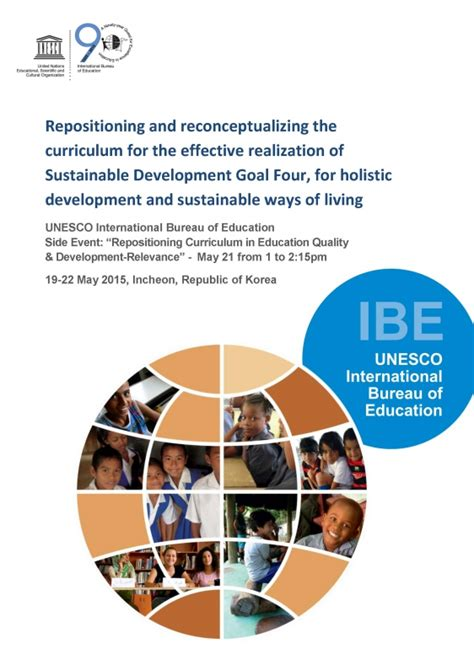 unesco international bureau of education ibe discussion paper repositioning and reconceptualizing the curriculum international bureau