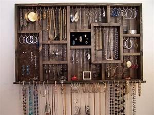 Organisateur De Bijoux : bague porte bijoux organisateur mur suspendu affichage de bijoux diy pinterest bagues ~ Teatrodelosmanantiales.com Idées de Décoration