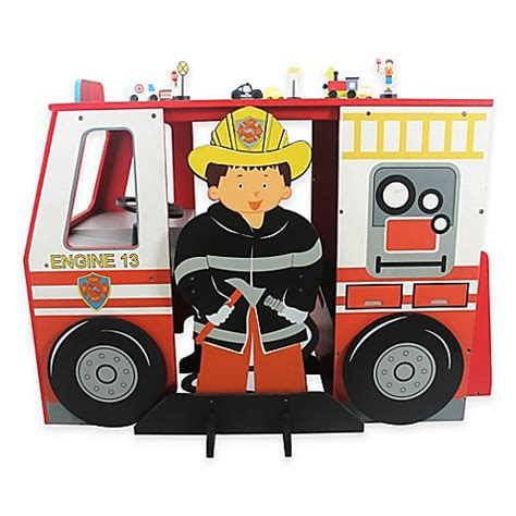 bed bath and beyond desk chair buy teamson kids fire engine desk and chair set from bed