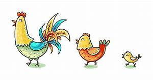 Colorful Cartoon Chicken Family Stock Illustration - Download Image Now