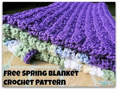 Crochet Patterns Blanket Pattern Afghan Spring Enlarging