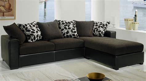 canapé d angle marron pas cher canapé d 39 angle tissu noir pas cher