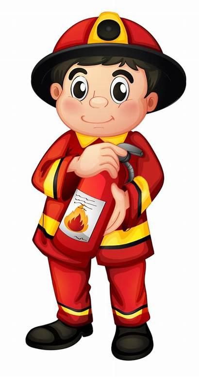 Clipart Firefighter Community Helper Helpers Clip Transparent